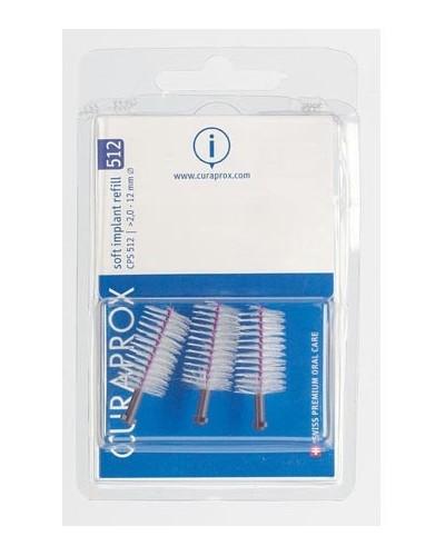 Interdental brush refill implant, 512